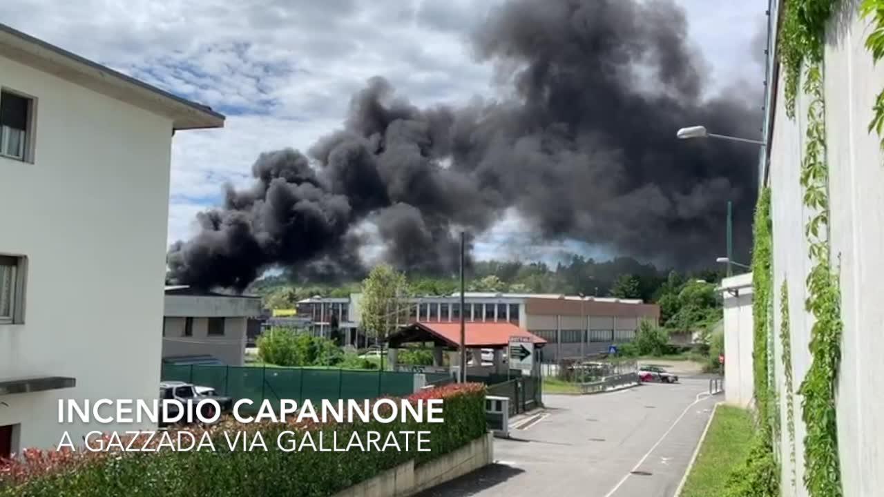 Video: Incendio in via Gallarate a Gazzada Schianno