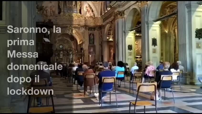 Video: Saronno, la prima messa dopo il lockdown