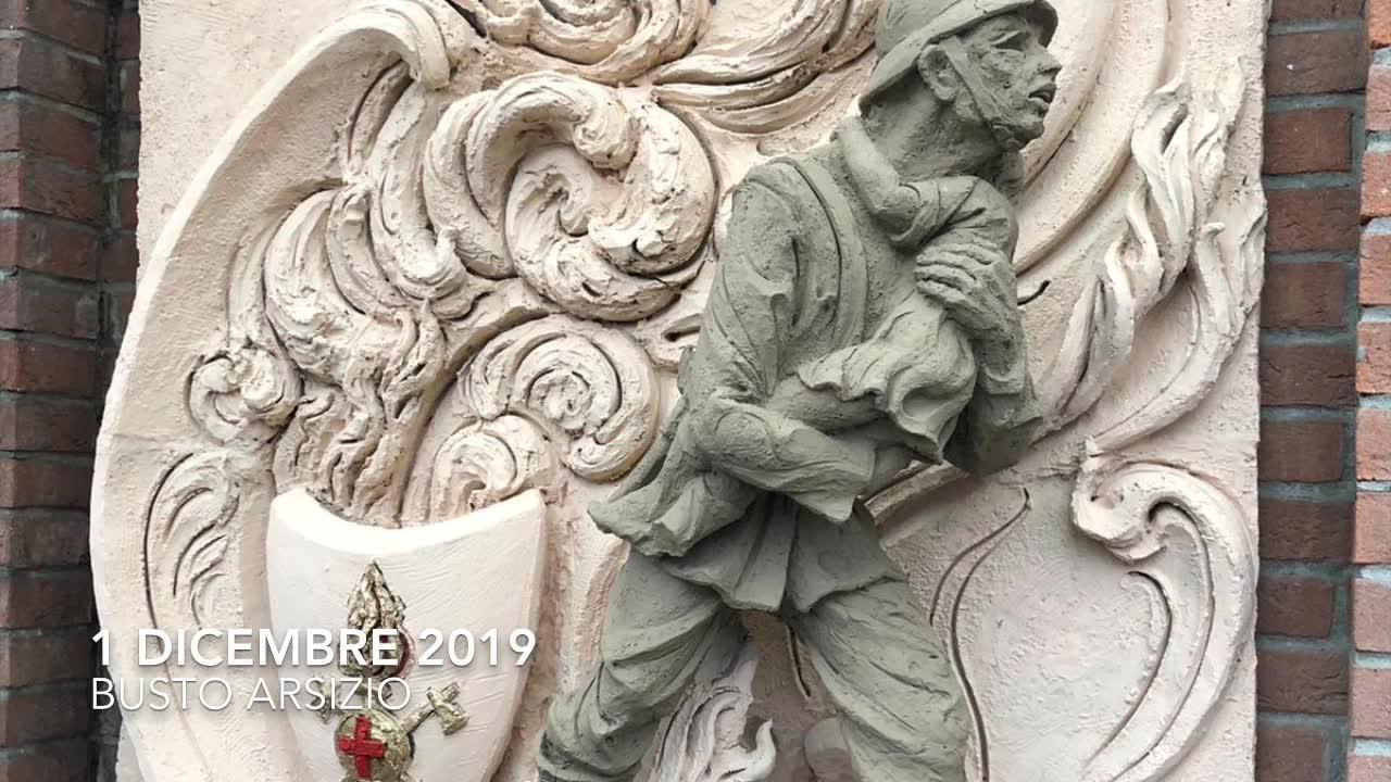 Video: Restaurato il bassorilievo dedicato ai vigili del fuoco