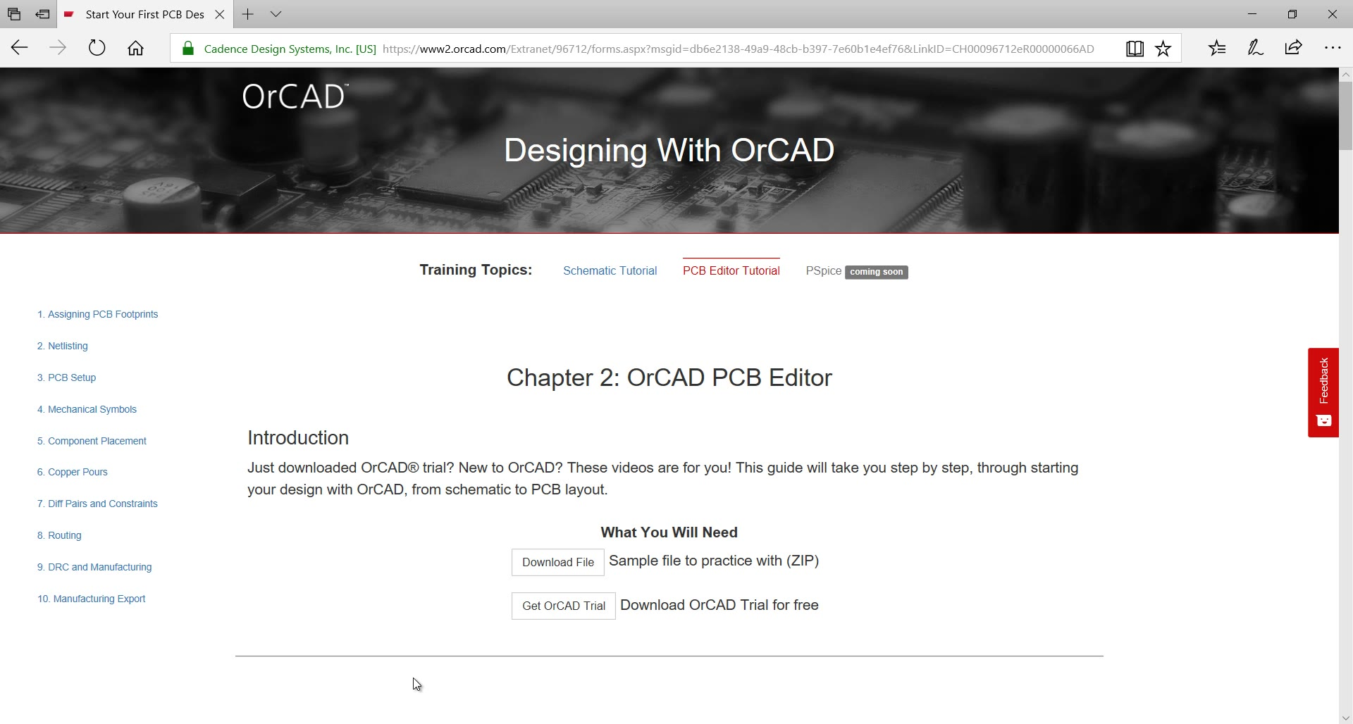 Start Your First PCB Design in OrCAD
