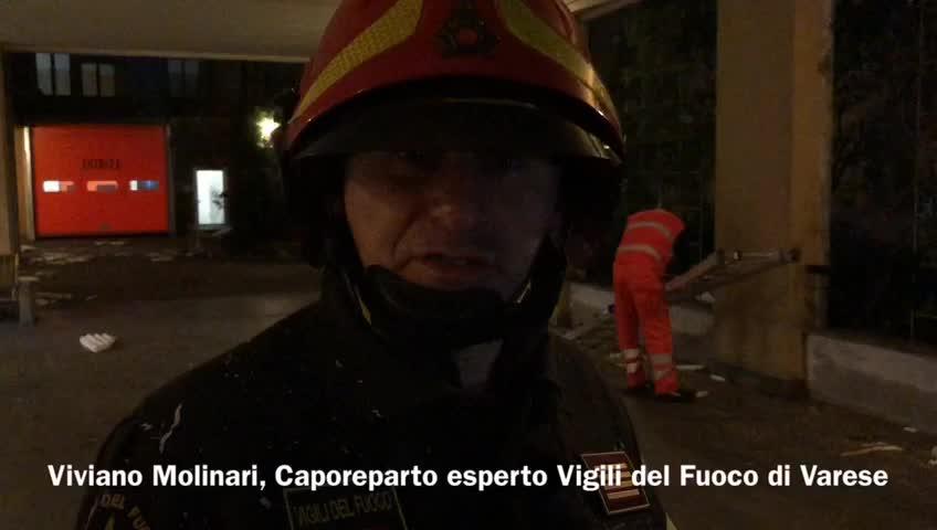 Video: Il vento danneggia l'ospedale di Cittiglio
