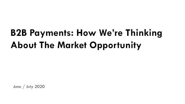 The 'Dark Art' of B2B Payments - Segmenting the $1 Trillion Solution Landscape slide image