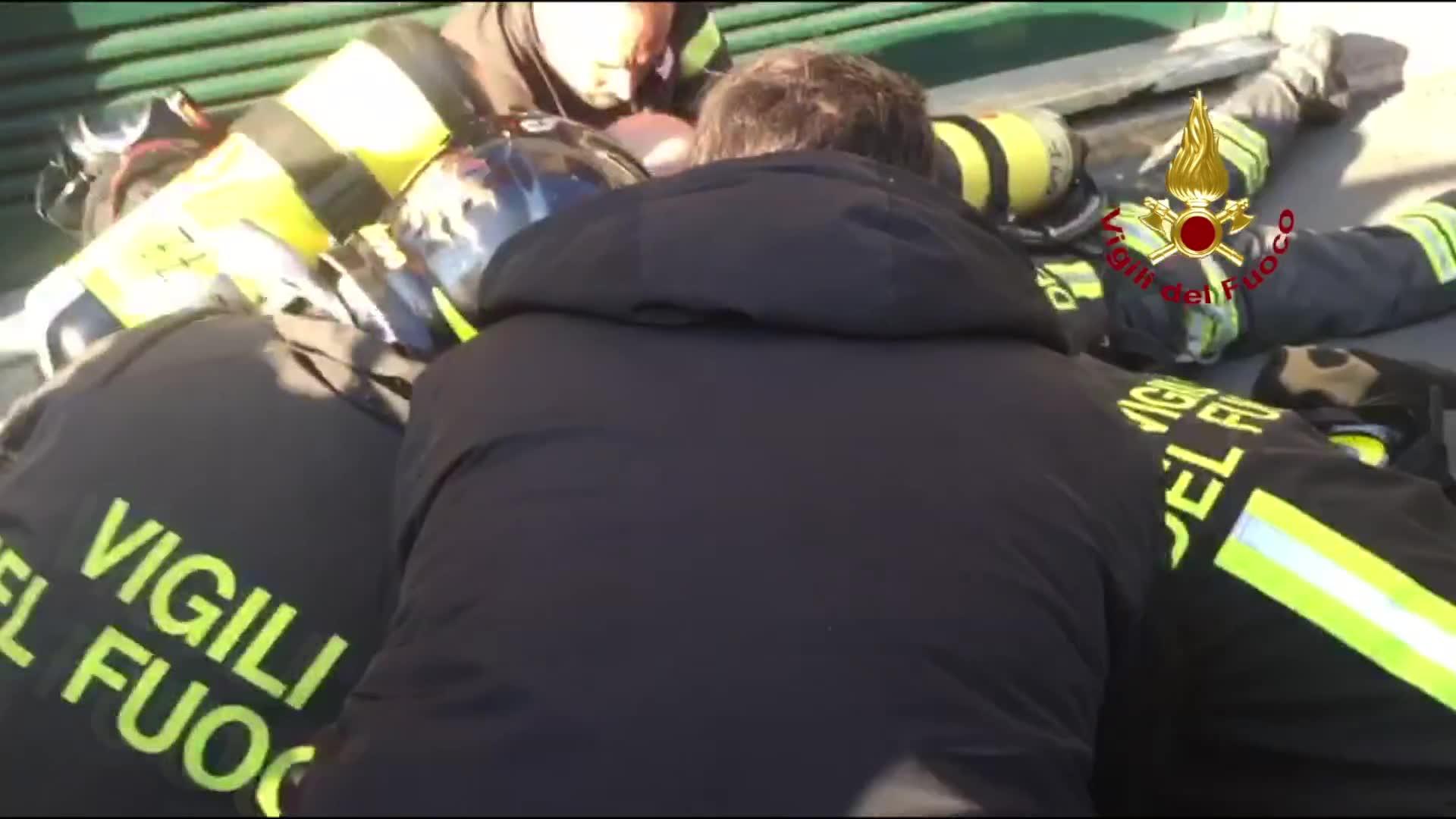 Video: I vigili del fuoco salvano il cane dall'incendio