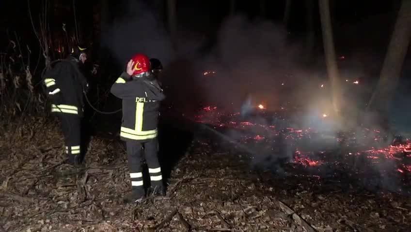 Video: Le fiamme nei boschi di Abbiate Guazzone