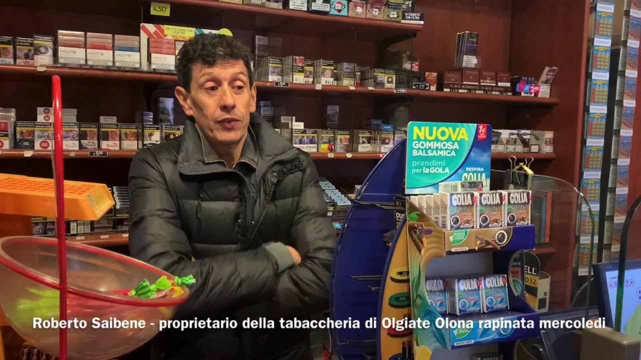 """Video: Il tabaccaio rapinato: """"Bisogna ridurre il contante"""""""