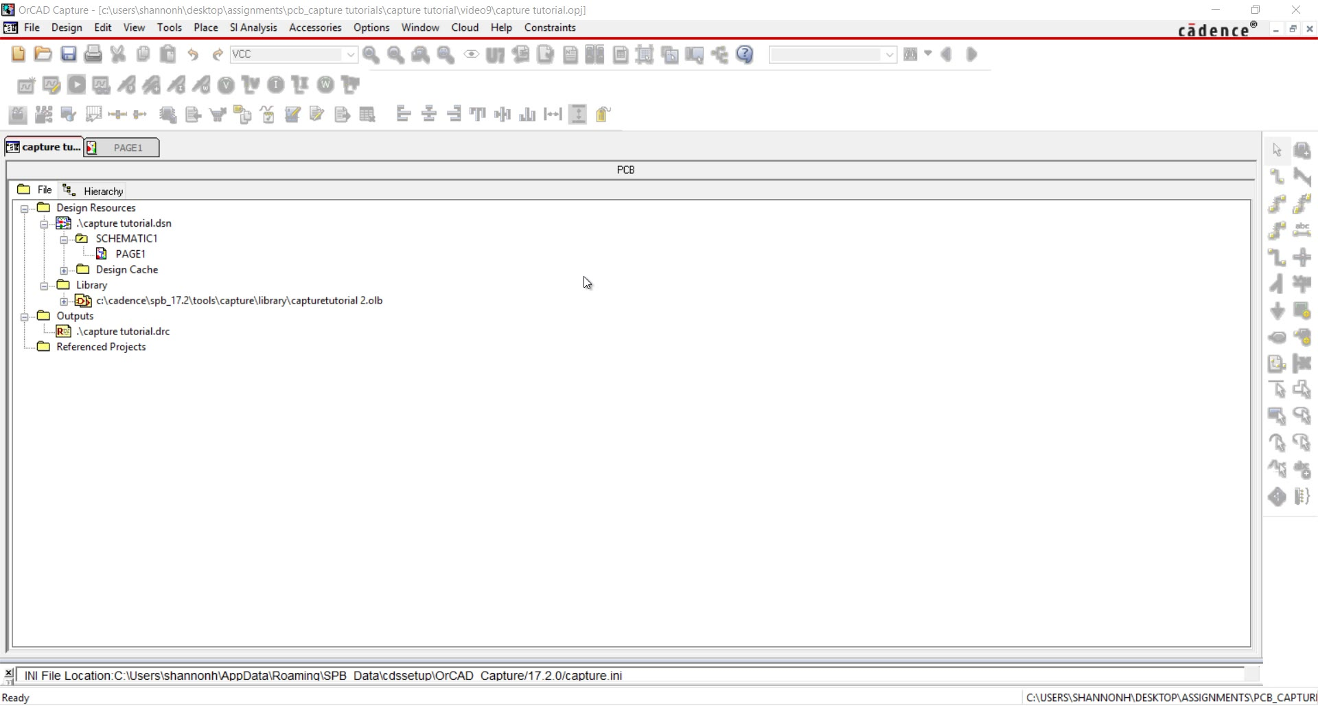 Start Your First Schematic Design In Orcad Capture American Auto Wire Diagram Rate This File Watch Video