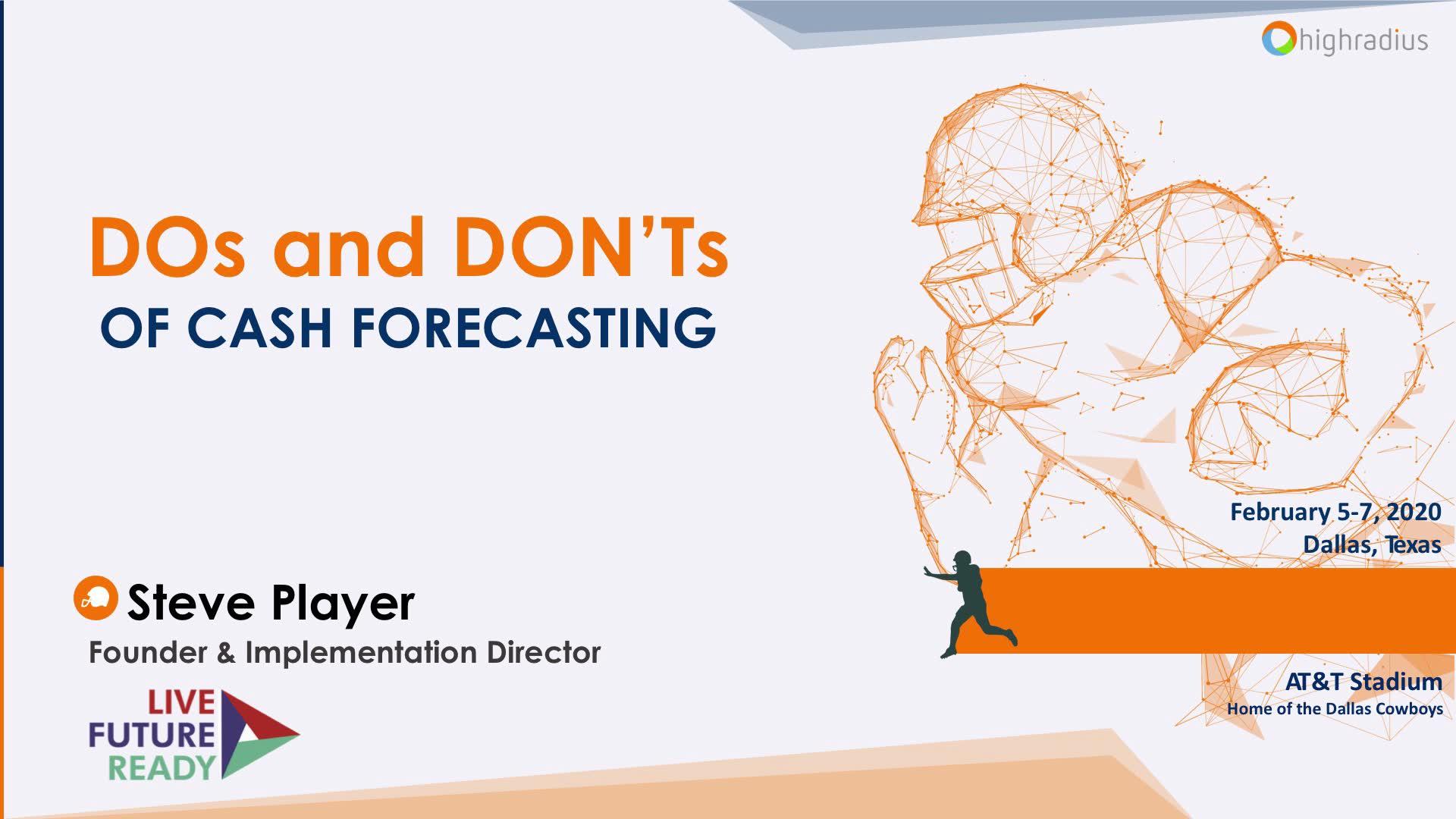 Webinar: The Do's & Dont's Of Cash Forecasting