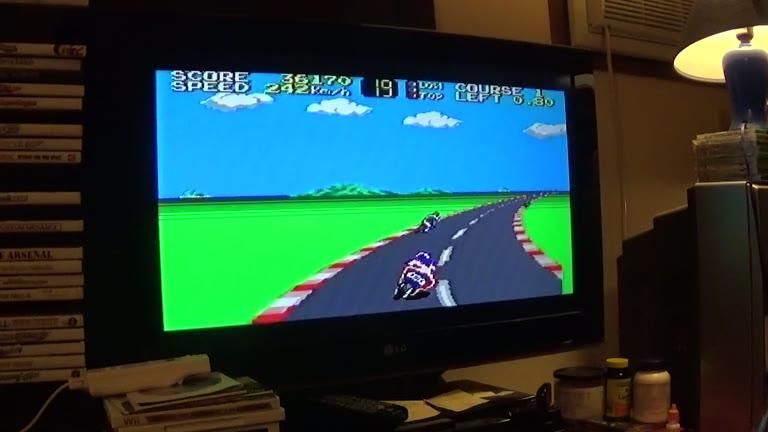 Sega Master System - Hang-On - NTSC - Points [Level 2] - 191,650 - john brissie