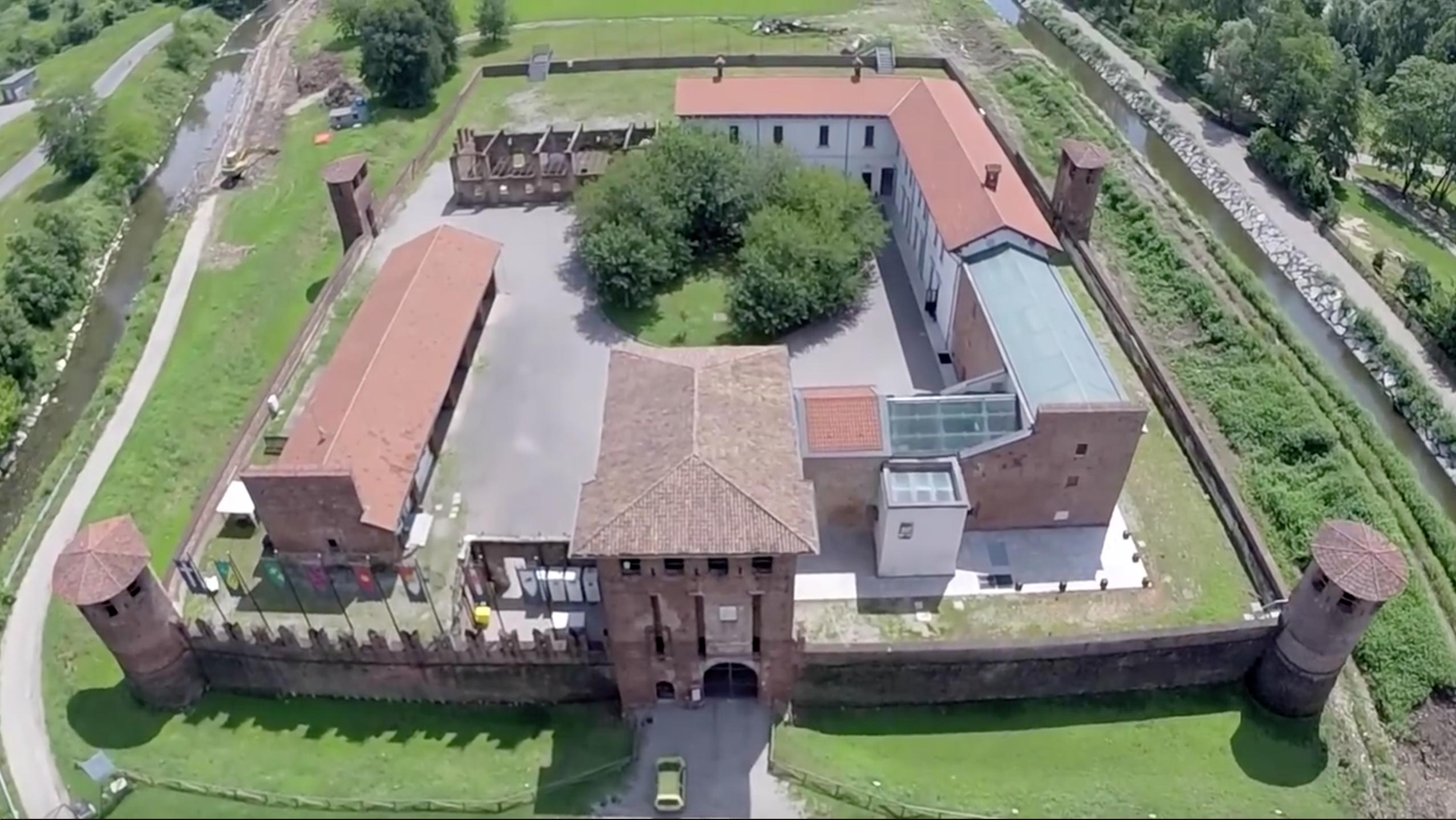 Video: Il castello di Legnano visto dall'alto