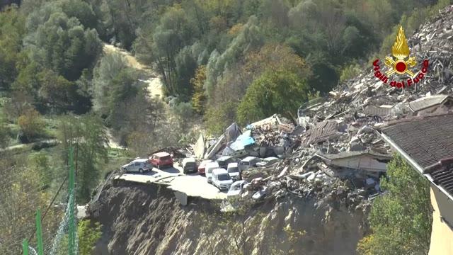 Video: Nuovi crolli a Pescara del Tronto