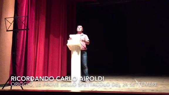 Video: Carlo Airoldi rivive sul palco di Origgio