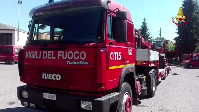 Video: I vigili del fuoco in partenza per le zone terremotate