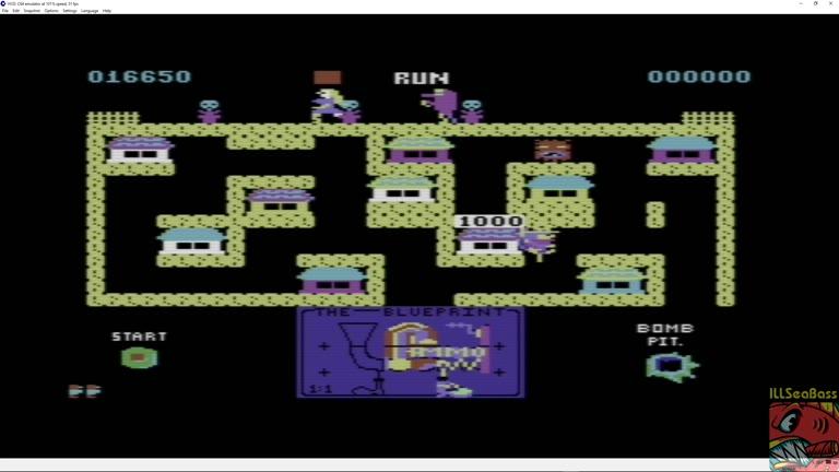 Commodore 64 - Blueprint - EMU - Points - 48,700 - Matt Sales