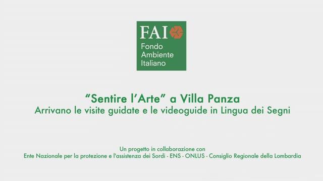 Video: A Villa Panza visite guidate nella lingua dei segni