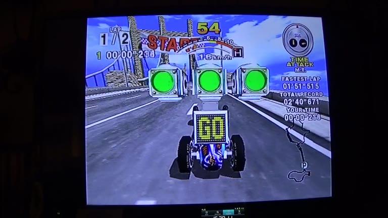 Sega Dreamcast - Daytona USA / Daytona USA 2001 - PAL - Time Attack - Sea-Side Street Galaxy - Normal Track [Fastest Lap] - 01:44.625 - john brissie