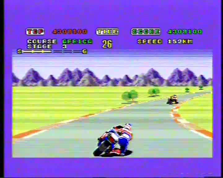 Sega Genesis / Sega Mega Drive - Super Hang-On - PAL - Arcade Mode - Beginner Course [Points] - 23,006,980 - Andrew Mee