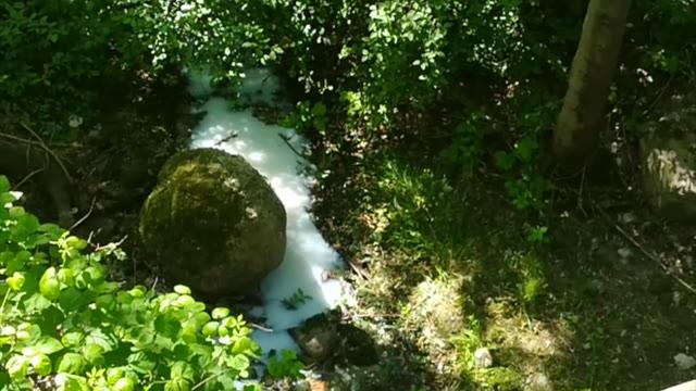Video: Sversamento di sostanza bianca in un torrente a Voltorre