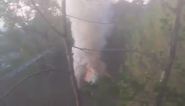 Video: Incendio in via Merano, colonna di fumo su Varese