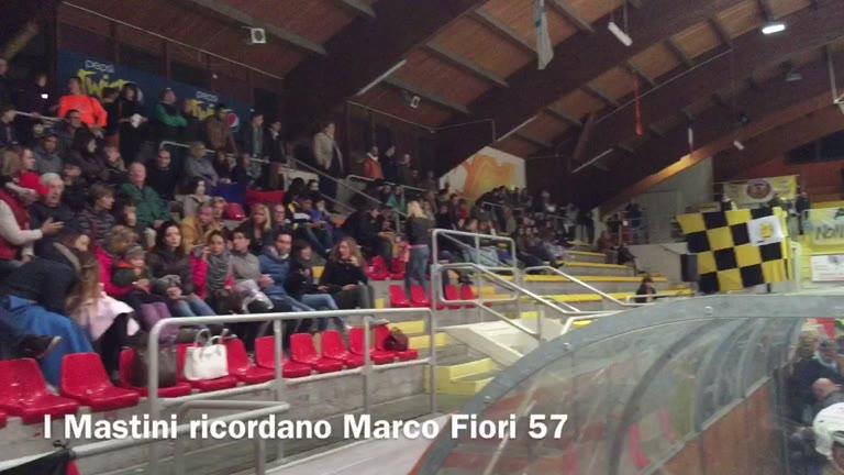 Video: I Mastini ritirano il 57 di Marco Fiori