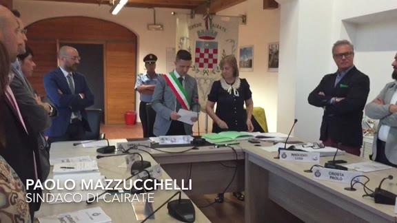 Video: Mazzucchelli nomina la nuova giunta di Cairate
