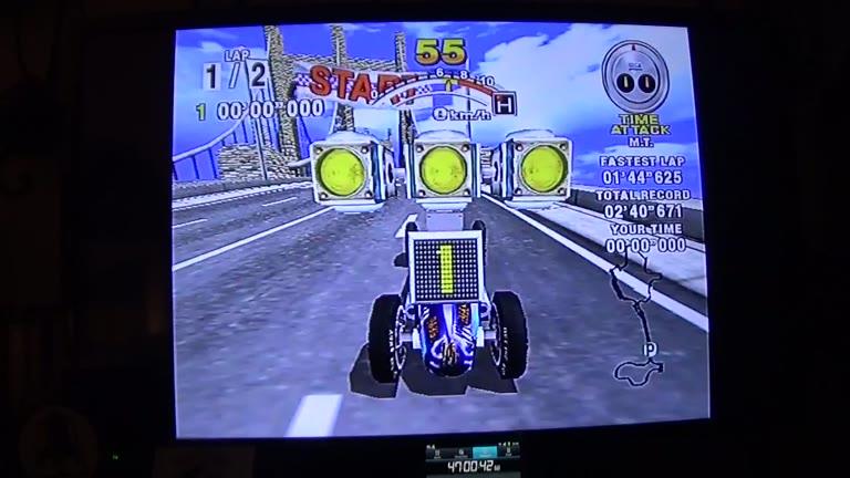 Sega Dreamcast - Daytona USA / Daytona USA 2001 - PAL - Time Attack - Sea-Side Street Galaxy - Normal Track [Fastest Race] - 03:34.765 - john brissie
