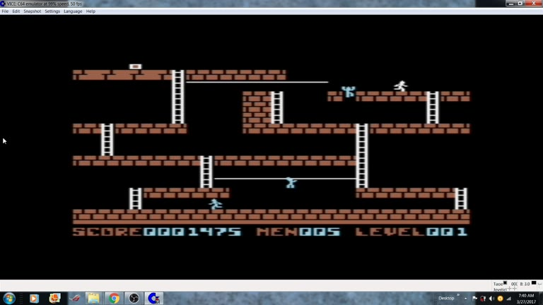 Commodore 64 - Lode Runner - EMU - Marathon - - 237,625 - william rosa