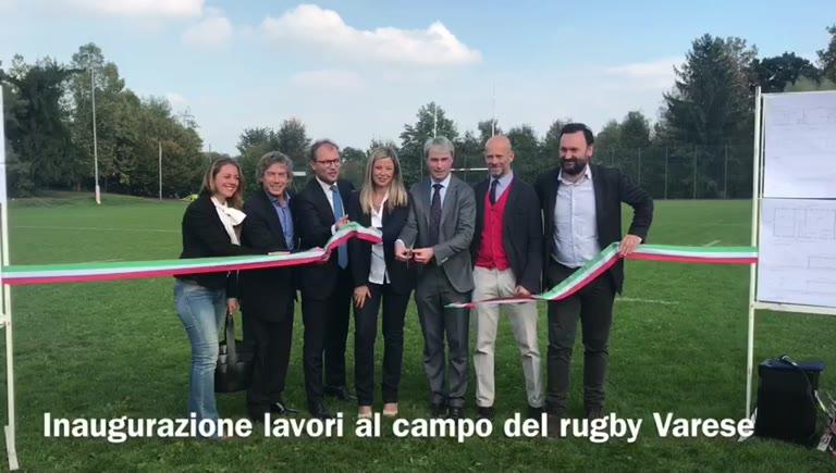 Video: Il ministro Lotti inaugura i lavori al campo da rugby