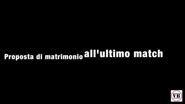 Video: Proposta di matrimonio alla pallamano Cassano Magnago