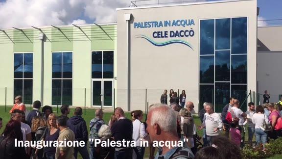 """Video: Inaugurata a Jerago la nuova """"Palestra in acqua"""""""