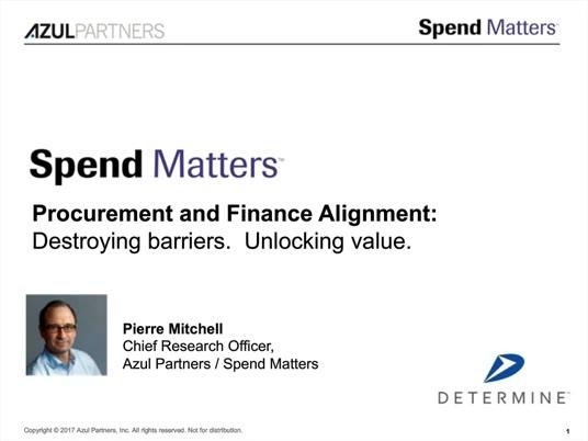 Solving the Procurement-Finance Alignment Problem - It's Doable! slide image