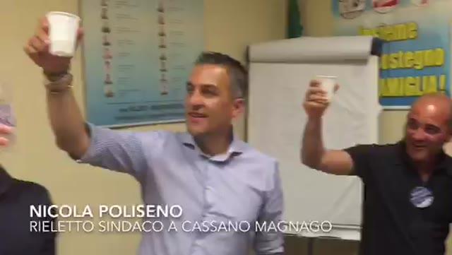 Video: Poliseno rieletto sindaco di Cassano Magnago