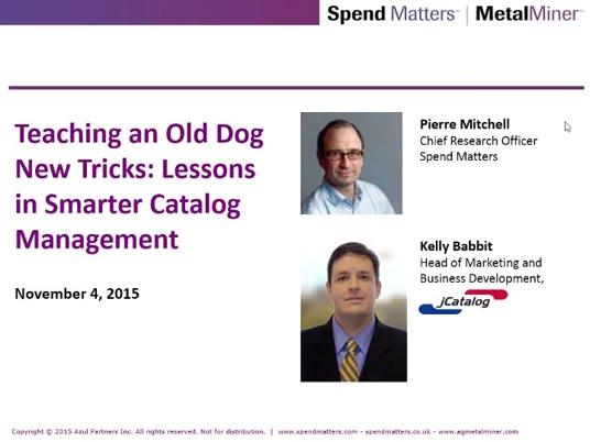 Teaching an Old Dog New Tricks: Advanced Case Studies in Smarter Catalog Management slide image