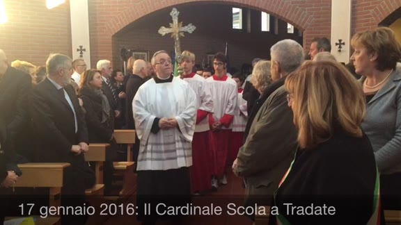 """Video: Il cardinale Scola """"dedica"""" la chiesetta dell'ospedale"""