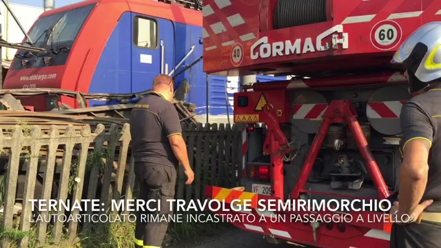 Video: Incidente ferroviario a Ternate