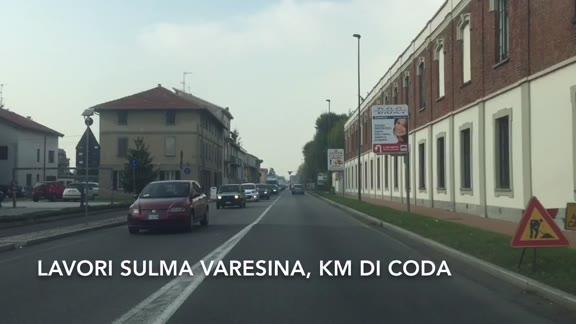 Video: Lavori sulla Varesina, km di code