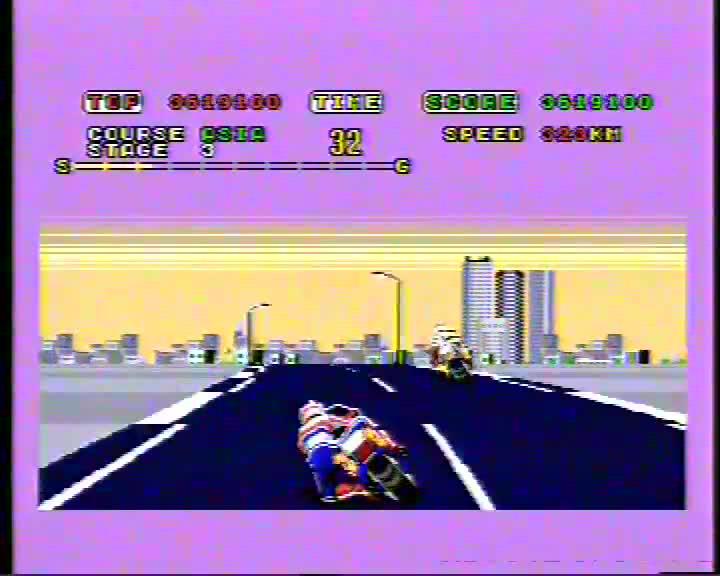 Sega Genesis / Sega Mega Drive - Super Hang-On - PAL - Arcade Mode - Junior Course [Points] - 7,998,020 - Andrew Mee