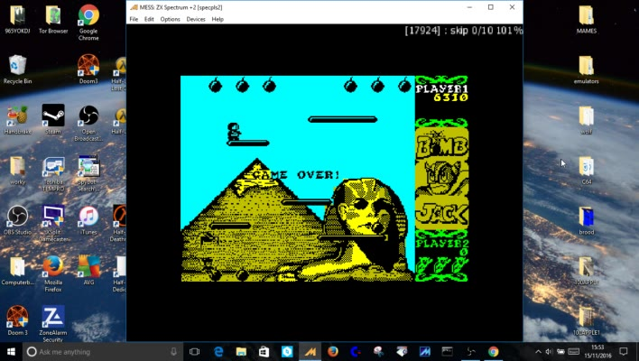 Sinclair ZX Spectrum - Bomb Jack - EMU - Marathon - - 1,633,440 - paul kearns