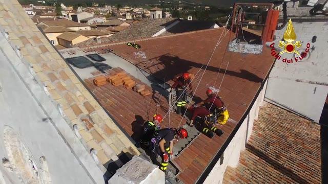 Video: In volo sulla Basilica San Benedetto di Norcia prima del crollo