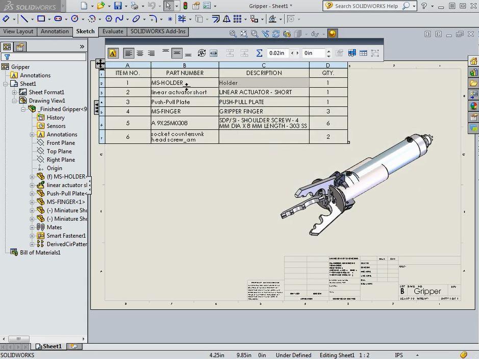 Editing BOM Descriptions in SOLIDWORKS - CAD Tutorials | ENGINEERING com