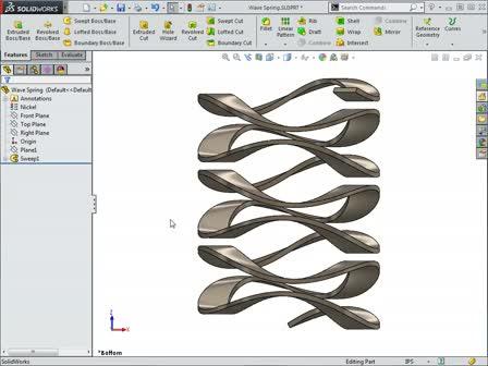 Modeling a Wave Spring in SOLIDWORKS - CAD Tutorials