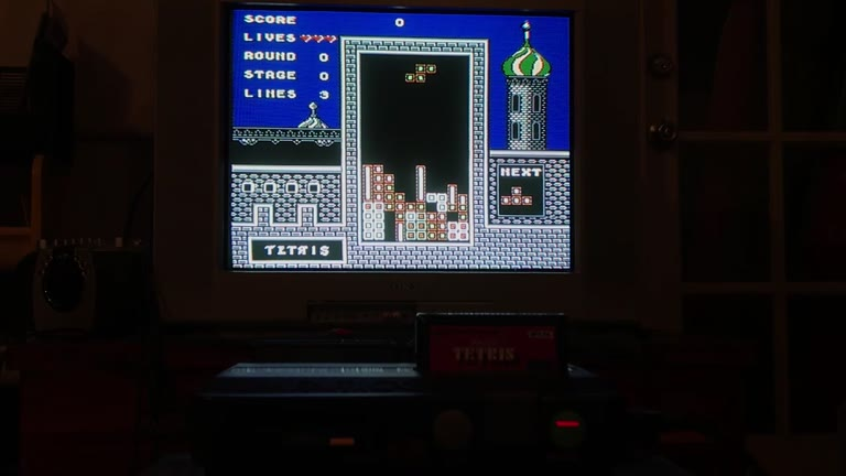 NES / FAMICOM / DISK - Tetris [BPS Version] - NTSC - Points - 85,490 - Sean Dwyer