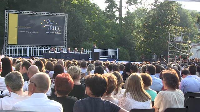 """Video: Federico Visconti ai suoi studenti: """"Guardate avanti"""""""