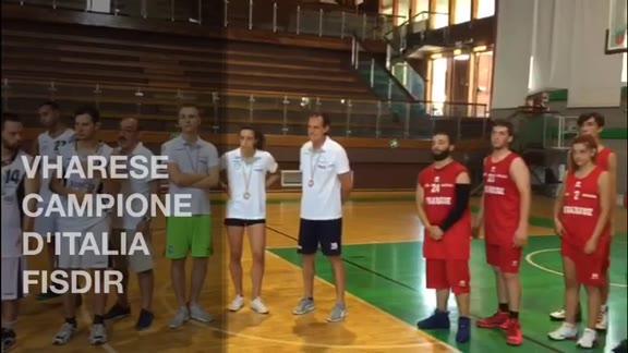 Video: Il Vharese vince lo scudetto nel basket FISDIR