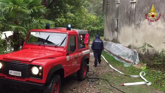Video: Appartamento divorato dal fuoco a Cittiglio