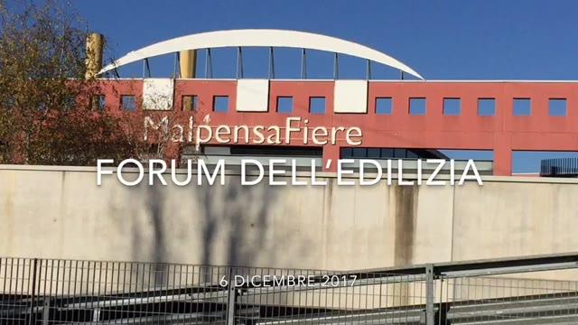 Video: Forum sull'edilizia a Malpensafiere