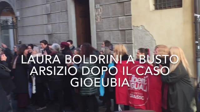 Video: Laura Boldrini a Busto Arsizio per il caso Gioeubia