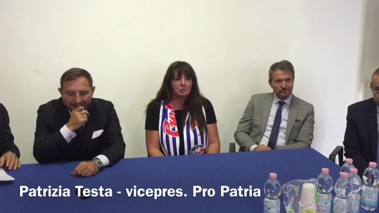 """Video: Patrizia Testa: """"Ora sostenete la Pro Patria"""""""