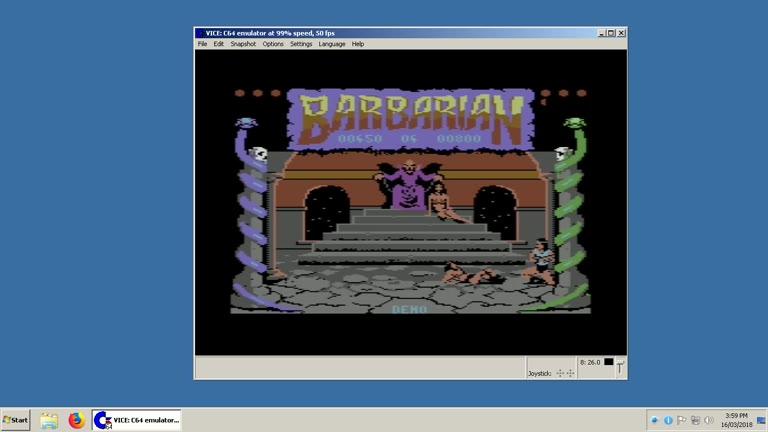 Commodore 64 - Barbarian the Ultimate Warrior - EMU - Points - - 20,700 - Clay Karczewski