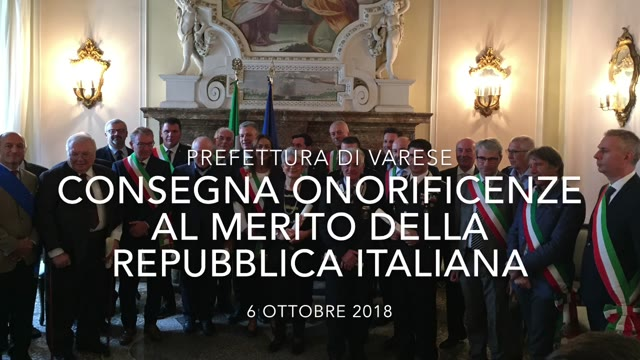 Video: Onorificenze al merito della Repubblica italiana