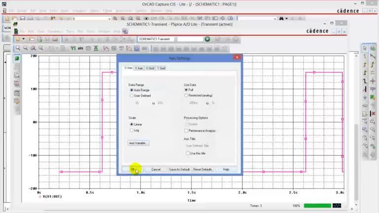 A PSpice® A/D Application-Inverting Schmitt Trigger